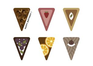 色々な種類のケーキ イラスト カードのイラスト素材 [FYI04746168]