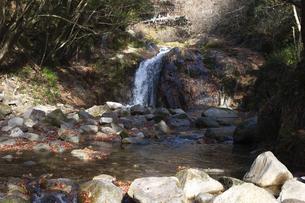 茨城県、花貫渓谷の乙女滝の写真素材 [FYI04746187]