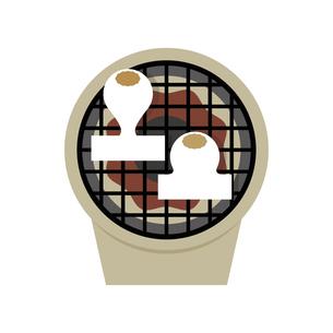 餅を七輪で焼く イラストのイラスト素材 [FYI04746250]