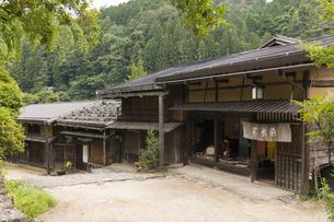 中山道 妻籠宿の写真素材 [FYI04746261]