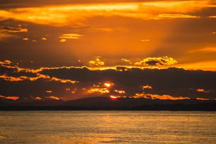 北海道の釧路の美しい日没の海景の写真素材 [FYI04746397]