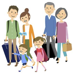 家族旅行のイラスト素材 [FYI04746493]