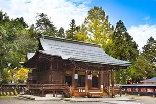 秋の上杉神社の写真素材 [FYI04746898]