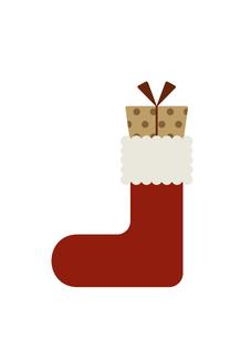 クリスマスブーツとプレゼントのイラスト素材 [FYI04746974]