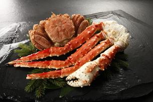 タラバ蟹と毛蟹の写真素材 [FYI04747190]