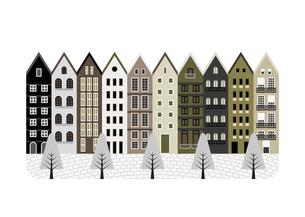 ヨーロッパの街並みのイラスト素材 [FYI04747287]