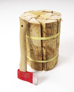 薪と斧の写真素材 [FYI04747292]