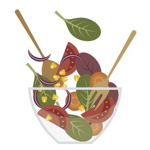 野菜サラダを作る イラストのイラスト素材 [FYI04747359]