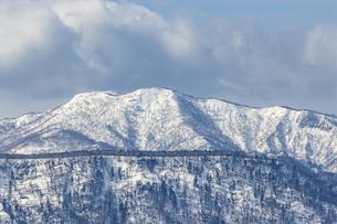 支笏湖畔から望む道央の山々の写真素材 [FYI04747402]