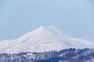 支笏湖畔から望む道央の山々の写真素材 [FYI04747408]