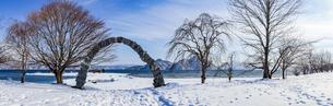 洞爺湖 浮見堂公園の夢洞爺の写真素材 [FYI04747422]