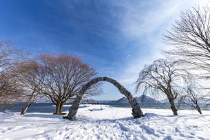 洞爺湖 浮見堂公園の夢洞爺の写真素材 [FYI04747424]