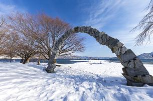 洞爺湖 浮見堂公園の夢洞爺の写真素材 [FYI04747427]