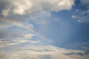 青空にかかる虹の写真素材 [FYI04747466]