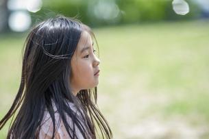 女の子の横顔の写真素材 [FYI04747482]