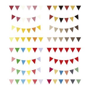 ガーランド 三角の旗 Garland イラスト セットのイラスト素材 [FYI04747504]