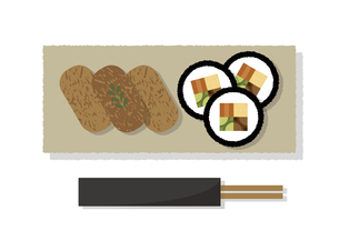 助六寿司 イラストのイラスト素材 [FYI04747563]