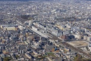 空撮 京都駅八条口の写真素材 [FYI04747875]