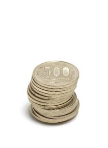 500円玉の写真素材 [FYI04751279]
