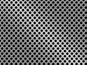パンチメタルのバックグラウンドの写真素材 [FYI04753249]