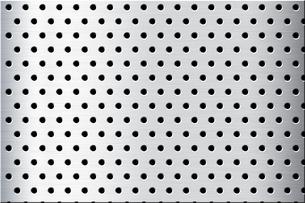 パンチメタルのバックグラウンドの写真素材 [FYI04753283]