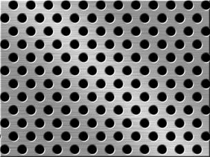 パンチメタルのバックグラウンドの写真素材 [FYI04753329]