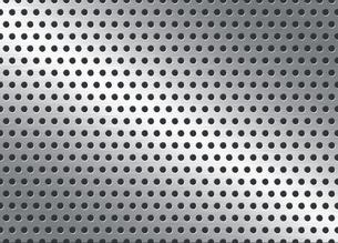 パンチメタルのバックグラウンドの写真素材 [FYI04753347]