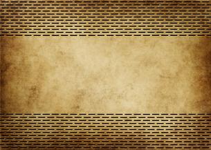 パンチメタルのバックグラウンドの写真素材 [FYI04753351]
