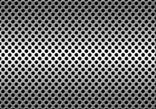パンチメタルのバックグラウンドの写真素材 [FYI04753430]