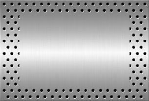パンチメタルのバックグラウンドの写真素材 [FYI04753542]