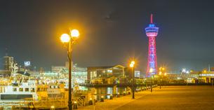 福岡県 風景 博多埠頭夕景の写真素材 [FYI04754789]