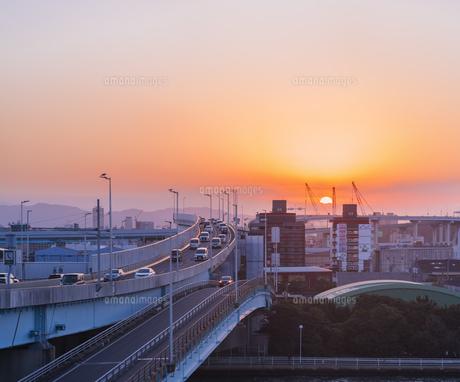 福岡県 風景 福岡市街夕景 の写真素材 [FYI04754810]