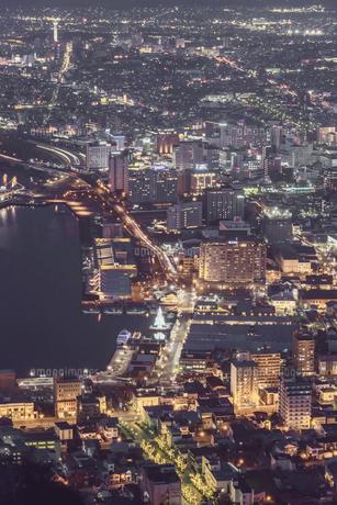 函館山からの夜景の写真素材 [FYI04755112]