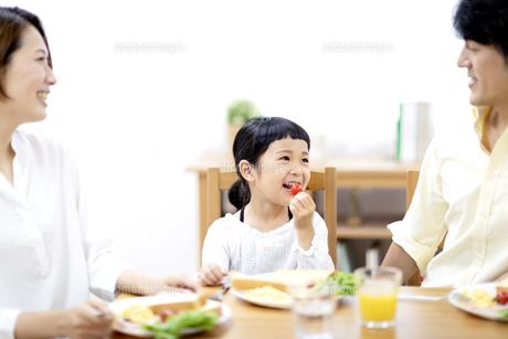 家族の朝食の時間の写真素材 [FYI04760732]