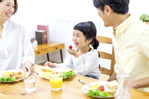 家族の朝食の時間の写真素材 [FYI04760734]