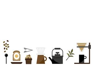 キッチン コーヒー フレームのイラスト素材 [FYI04761230]