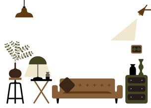 ソファーのある部屋 イラストのイラスト素材 [FYI04761237]