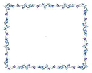 春の花のポピーによるフレームのイラスト素材 [FYI04761273]