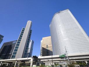 東京都 汐留の高層ビル街の写真素材 [FYI04761634]