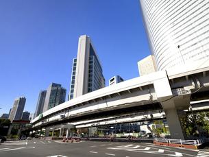 東京都 汐留の高層ビル街の写真素材 [FYI04761635]