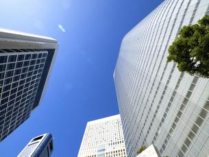 東京都 汐留の高層ビル街の写真素材 [FYI04761639]