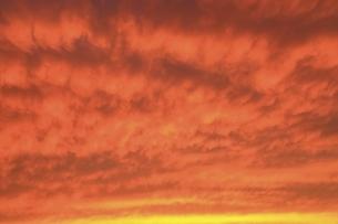 夕焼け雲の写真素材 [FYI04761916]