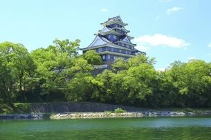岡山城と旭川の写真素材 [FYI04761958]