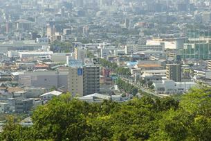 神園山展望台からみえる熊本市街の写真素材 [FYI04762291]