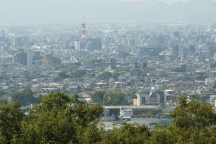 神園山展望台からみえる熊本市街の写真素材 [FYI04762293]
