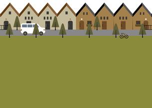 緑の多い住宅街 イラストのイラスト素材 [FYI04762386]