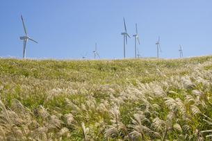 俵山の風力発電所の写真素材 [FYI04762408]
