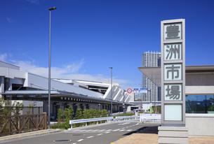 豊洲市場の青果南門と青果棟の写真素材 [FYI04762677]
