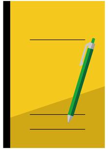 ノート、ボールペンのイラスト素材 [FYI04762802]