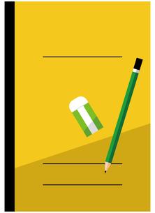 ノート、鉛筆、消しゴムのイラスト素材 [FYI04762803]